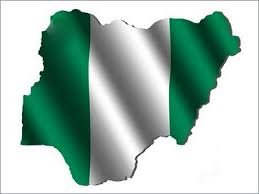 Nigerian map in colours