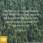 And this is His Commandment