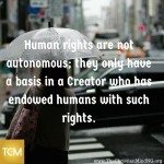 Human rights are not autonomous