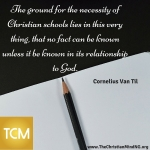 The ground for the necessity of Christian schools