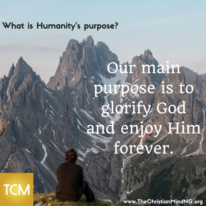 What is Humanity's main purpose-
